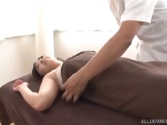 chubby brunette woman's body oiled up and fucked hardcore