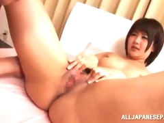 seductive japanese  cowgirl in a wet squirting orgasm
