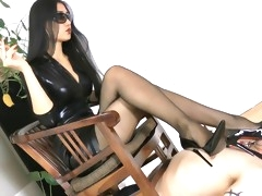 Hardcore Asian mistress dominates her submissive male sex slave