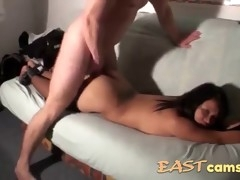 asian gets tied up and fucked by cock