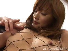 luscious asian cowgirl with long hair getting fingered