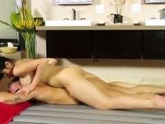 asian masseuse jayden lee sucks & rides client's cock and swallows cum