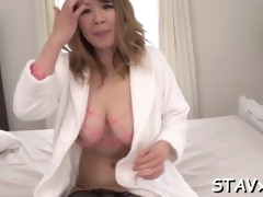 kinky asian pussy insertion