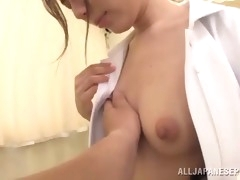 asian slut sucks a hard cock until it cums in her mouth