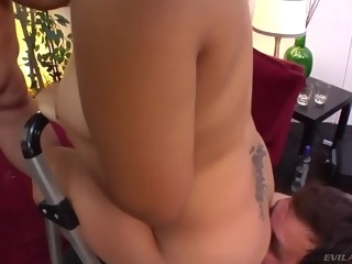 short asian whore with big boobs in got fucked hard in a threesome video