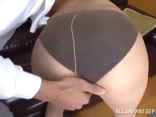 asian slut's fucked silly until her mouth's filled by semen