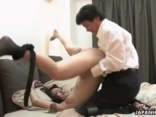 mature asian wife nao kato cheats, befouling marital bed