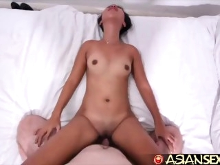 asian sex diary - white dick creampies horny filipina milf