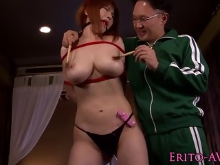 Tied up Asian sex slave gets her well deserved punishment