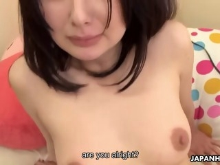 ayumi iwasa get fingered to orgasm and fucked until she gets a warm creampie