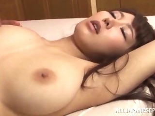 lecherous asian with long hair getting a sensual tit fuck