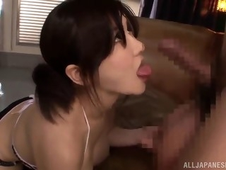 busty asian babe is fucked silly by two guys in a threesome