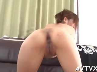 superb asian pussy jamming