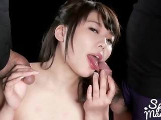 asian sloppy blowjob